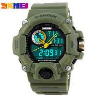 Часы SKMEI MILITARY S-SHOCK (1029) оливкового цвета