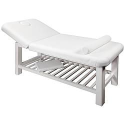 Стационарный массажный стол в белом цвете арт.877