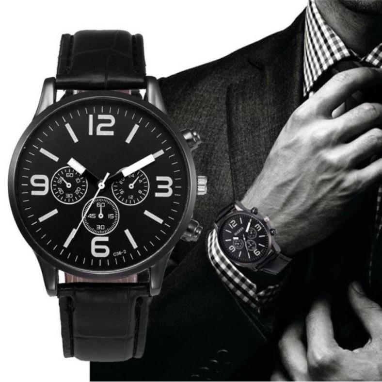 """Мужские наручные часы """"Migeer"""" (черный ремешок)"""