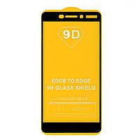 Защитное стекло Full Glue для Nokia 6.1 (Nokia 6 2018) (черный) (клеится всей поверхностью )