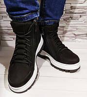 Ботинки Anri De Collo кроссовки женские зимние черные нубук, 37
