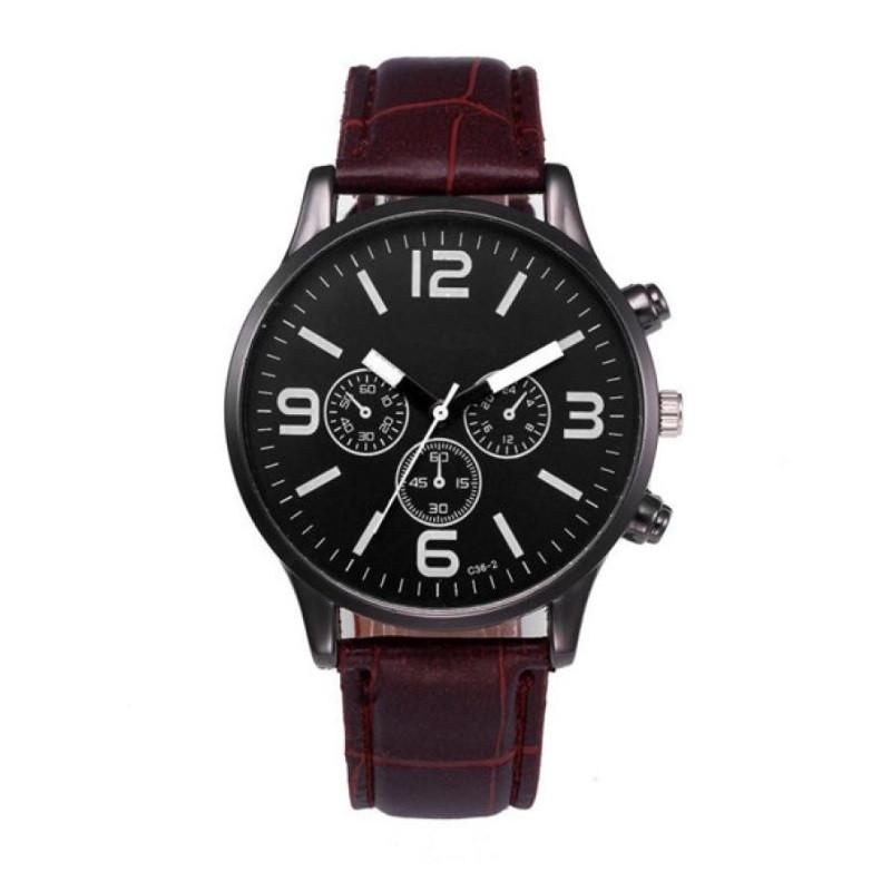 """Мужские наручные часы """"Migeer"""" (коричневый ремешок)"""