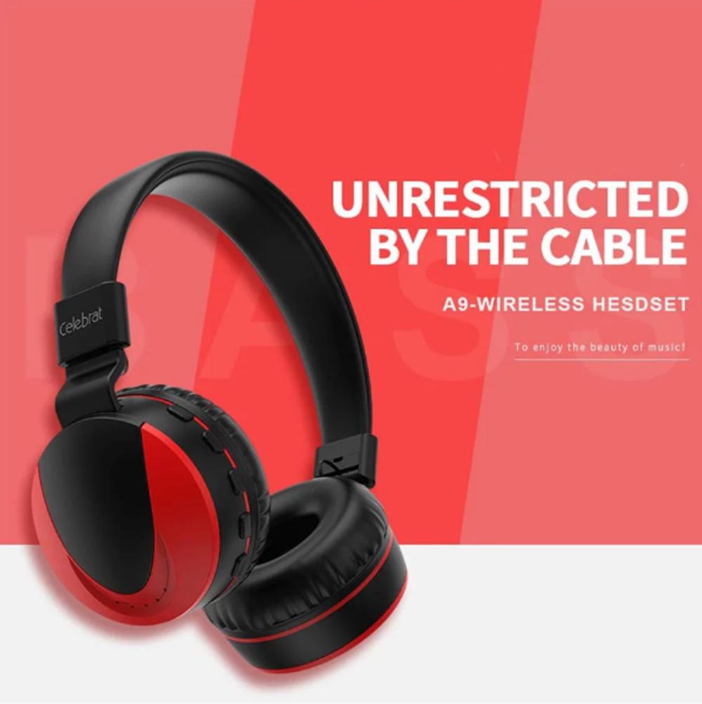 Беспроводные наушники Bluetooth Stereo гарнитура Celebrat A9 | Super Bass