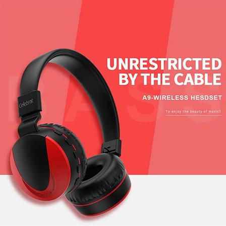 Беспроводные наушники Bluetooth Stereo гарнитура Celebrat A9 | Super Bass, фото 2