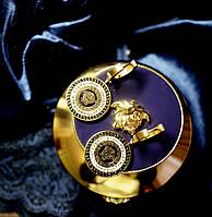 Модные женские серьги в стиле Versace (Версаче)
