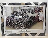 Комплект постельного белья Koloco Bayun арт 722 серый., фото 1