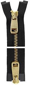 Молния YKK Metal Zipper Standard | 100 см | Тип 5 | 2 бегунка | разъемная | золото