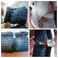 Муфта стеганая рукавички для коляски, фото 1