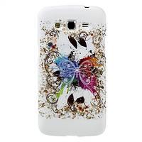 Чехол TPU на Samsung Galaxy Grand 2 Duos G7102, G7100, G7105, Pretty Butterfly