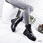 Женские зимние ботинки черного цвета, эко кожа 36 ПОСЛЕДНИЙ РАЗМЕР, фото 3