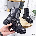 Женские зимние ботинки черного цвета, эко кожа 36 ПОСЛЕДНИЙ РАЗМЕР, фото 2