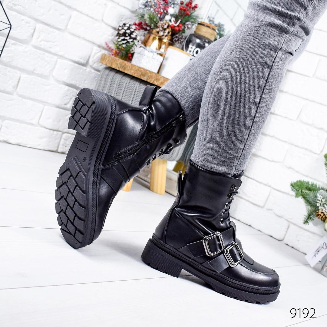 Женские зимние ботинки черного цвета, эко кожа 36 ПОСЛЕДНИЙ РАЗМЕР