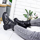 Женские зимние ботинки черного цвета, эко кожа 36 ПОСЛЕДНИЙ РАЗМЕР, фото 5