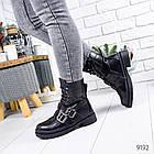 Женские зимние ботинки черного цвета, эко кожа 36 ПОСЛЕДНИЙ РАЗМЕР, фото 6