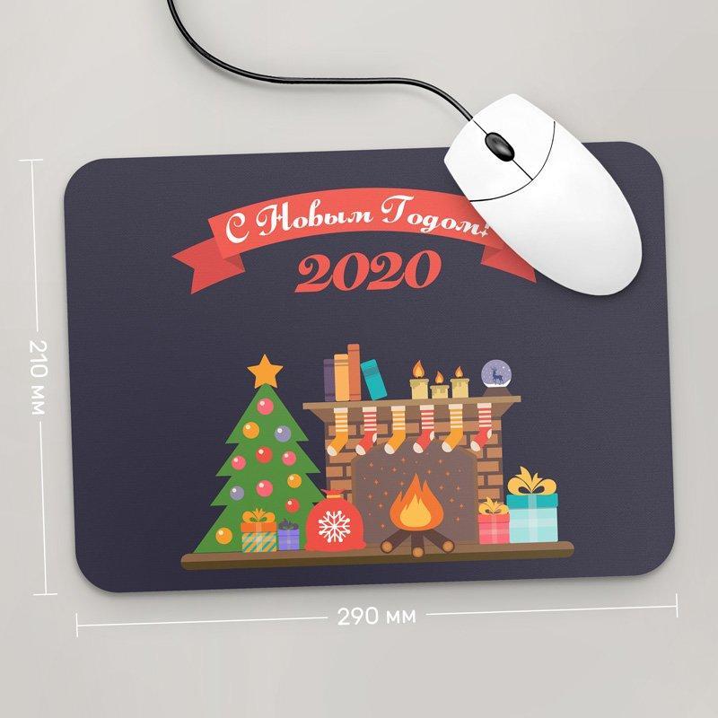 Коврик для мыши 290x210 С Новым Годом 2020, №12