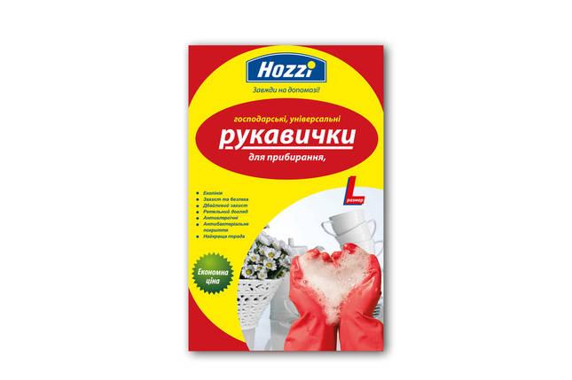 Перчатки хозяйственные резиновые Hozzi, фото 2