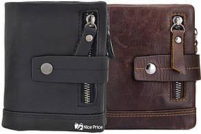 Мужской кошелек портмоне Tribe N8124 из натуральной кожи Черный