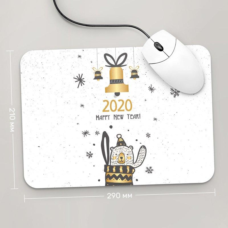 Коврик для мыши 290x210 Happy New Year 2020, №8