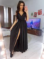 Шикарное платье в пол из трикотажа с напыление на запах