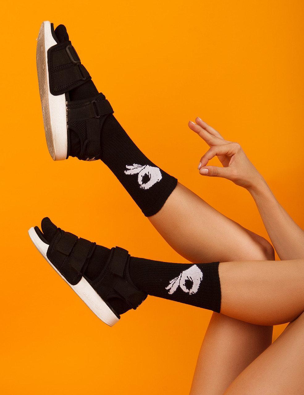 """Ароматизированные носки мужские с принтом """"Жесты Ok"""" Premium"""
