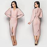 Женское платье люрекс с разрезом впереди (в расцветках), фото 3