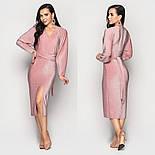 Женское платье люрекс с разрезом впереди (в расцветках), фото 4