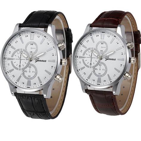 """Мужские наручные часы """"Geneva"""" (коричневый ремешок), фото 2"""