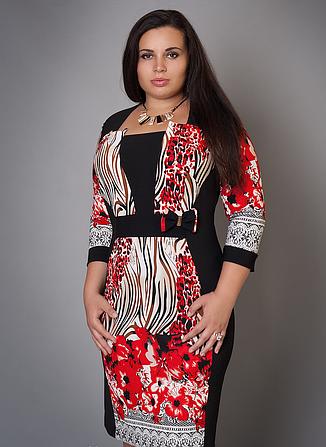 Платье с цветами большой размер, фото 2