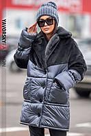 Зимняя женская куртка «Линда» с эко-мехом кролика