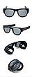 Гибкие солнцезащитные очки Clix Out Sunglasses UV 400, складные очки солнцезащитные, фото 2