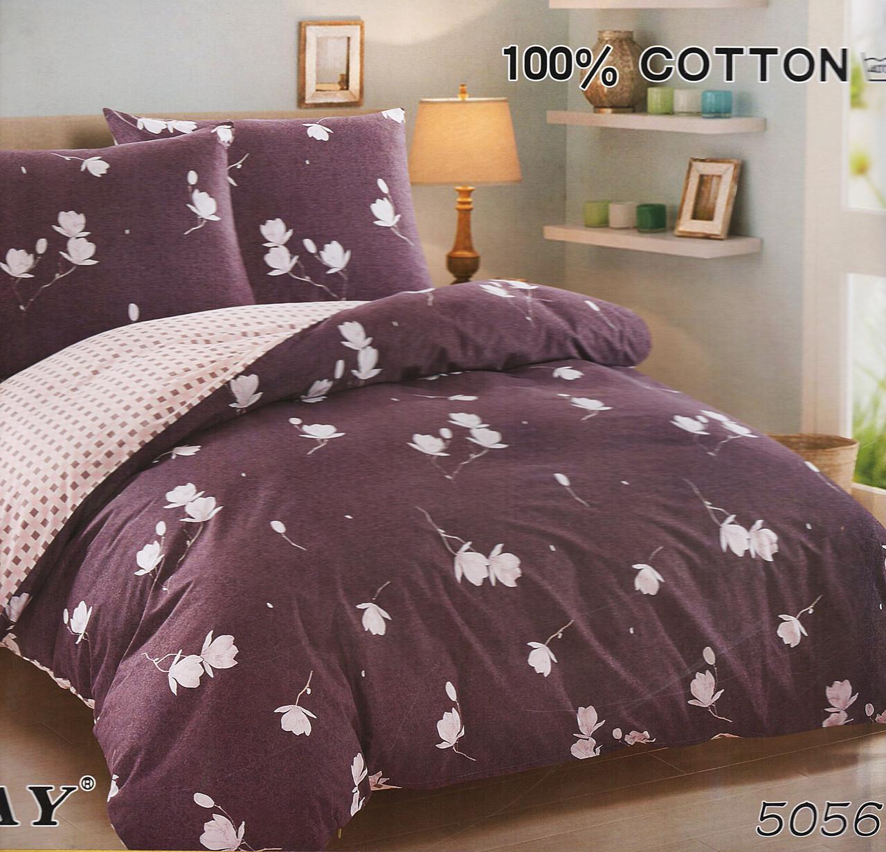 Семейный комплект постельного белья ELWAY 5056 сатин