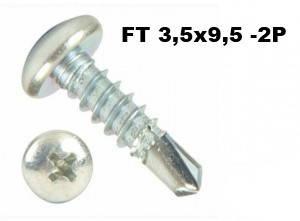Саморезы TEX 3,5*9,5мм (блошки, семечки, клоп) для крепления торцевой, угловой планки на профнастил, фото 2