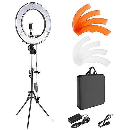 LED кільце для блогерів (35 см. діаметр) + штатив(190см)+ сумка-чохол для транспортування, фото 2