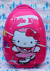 Дорожные детские пластиковые чемоданы качество люкс ручная кладь Josepf Ottenn Китти-42 см розовые 16-JDX-11-2