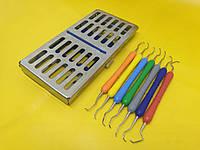 Кюреты грейси (набор) + кассета для стерилизации
