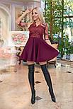 Женское платье кружево с юбкой-солнце (в расцветках), фото 5