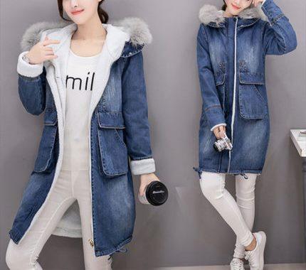 Longines Island Жіноча джинсова куртка пальто бавовна