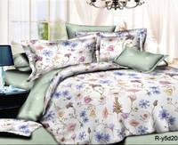 Евро комплект хлопковое постельное белье из ранфорса с простыней на резинке