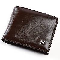 Кошелек портмоне кожаный мужской. Бумажник из натуральной кожи в подарочной коробке (коричневый)