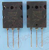 Транзисторы PNP/NPN 230В 15А Toshiba 2SA1943-O/2SC5200-O TO3P