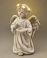 """Светящиеся статуэтки """"Ангелок с чашей"""" 15.5*13*23.5 см (полистоун)"""