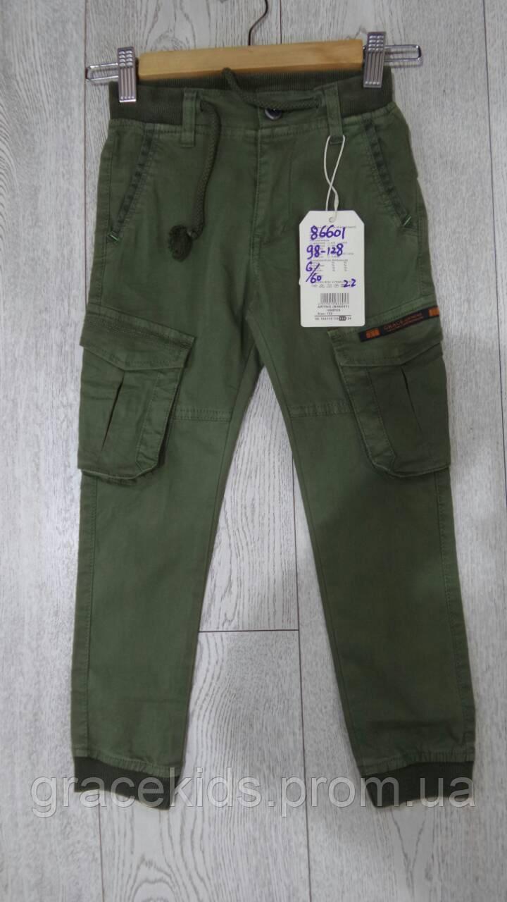 Детские котоновые брюки джоггеры  для мальчиков,разм 98-128 см