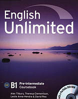 English Unlimited Pre-intermediate Coursebook (With e-Portfolio DVD-Rom)