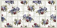 Панели ПВХ Grace Мозаика Фиолетовые цветы 964*484 мм