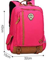 Оригинальный школьный рюкзак. Розовый. Код 367R Маленький.