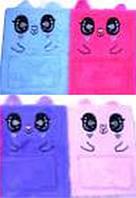 """Блокнот A5 меховая обложка M-035-K """"Кот с карманом"""", 80листов клетка 4цвета 80г/м2"""