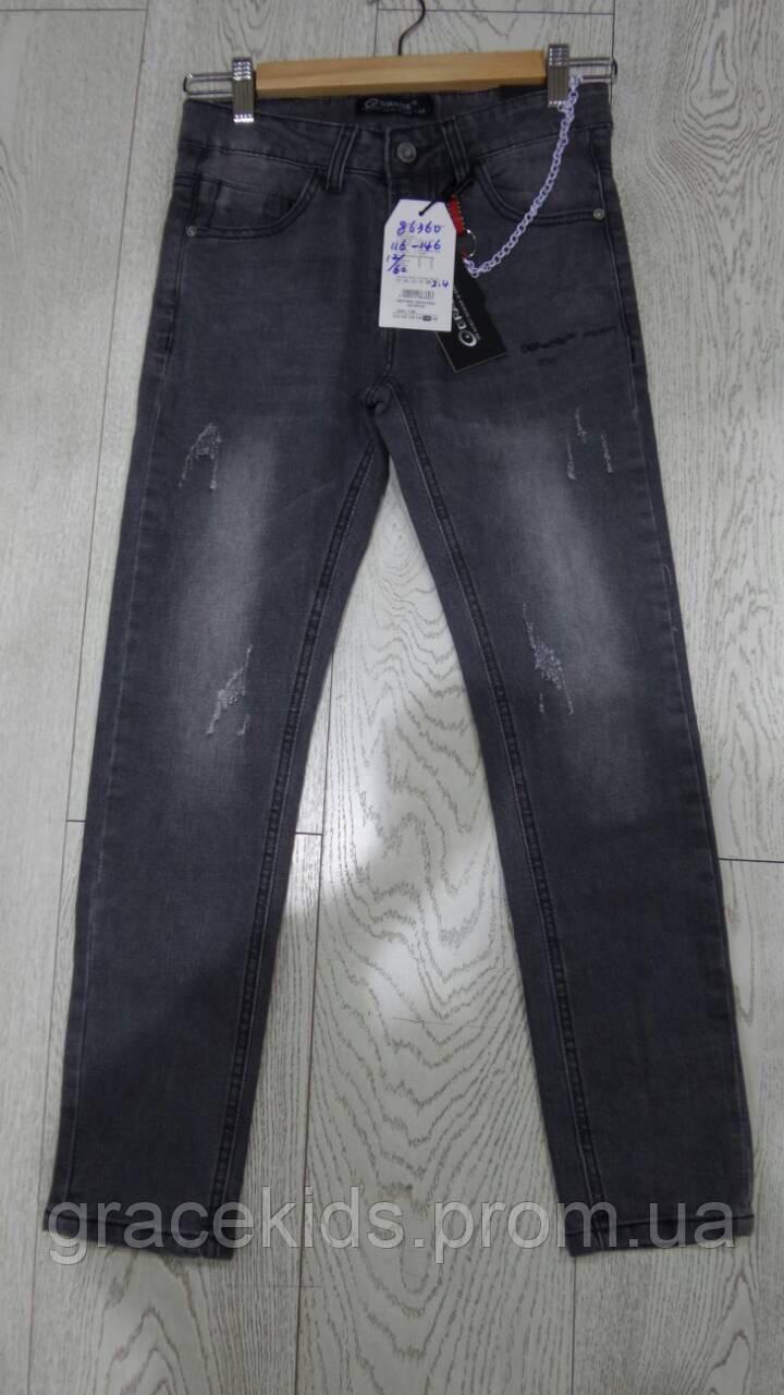 Детские черные джинсы оптом для мальчиков,разм 116-146 см