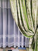 Красивые зелёные шторы. Классические шторы. Портьеры в зал. Красивые шторы для зала, спальни