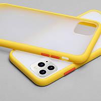Противоударный матовый чехол для iPhone 11 Желтый