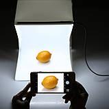 Фотобокс с LED подсветкой для предметной съемки 40см с USB подключением, фото 3